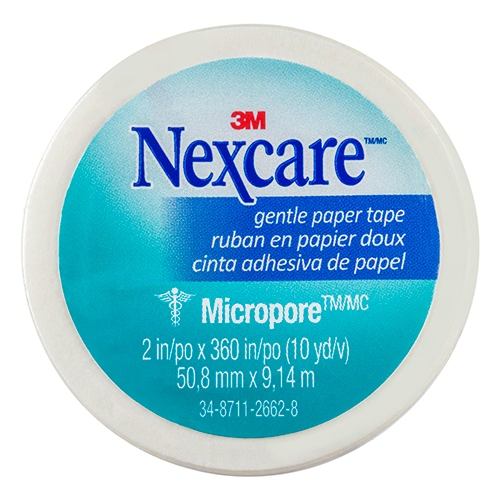 Image for Nexcare Micropore First Aid Tape - White 50mm X 9.1m from Amcal