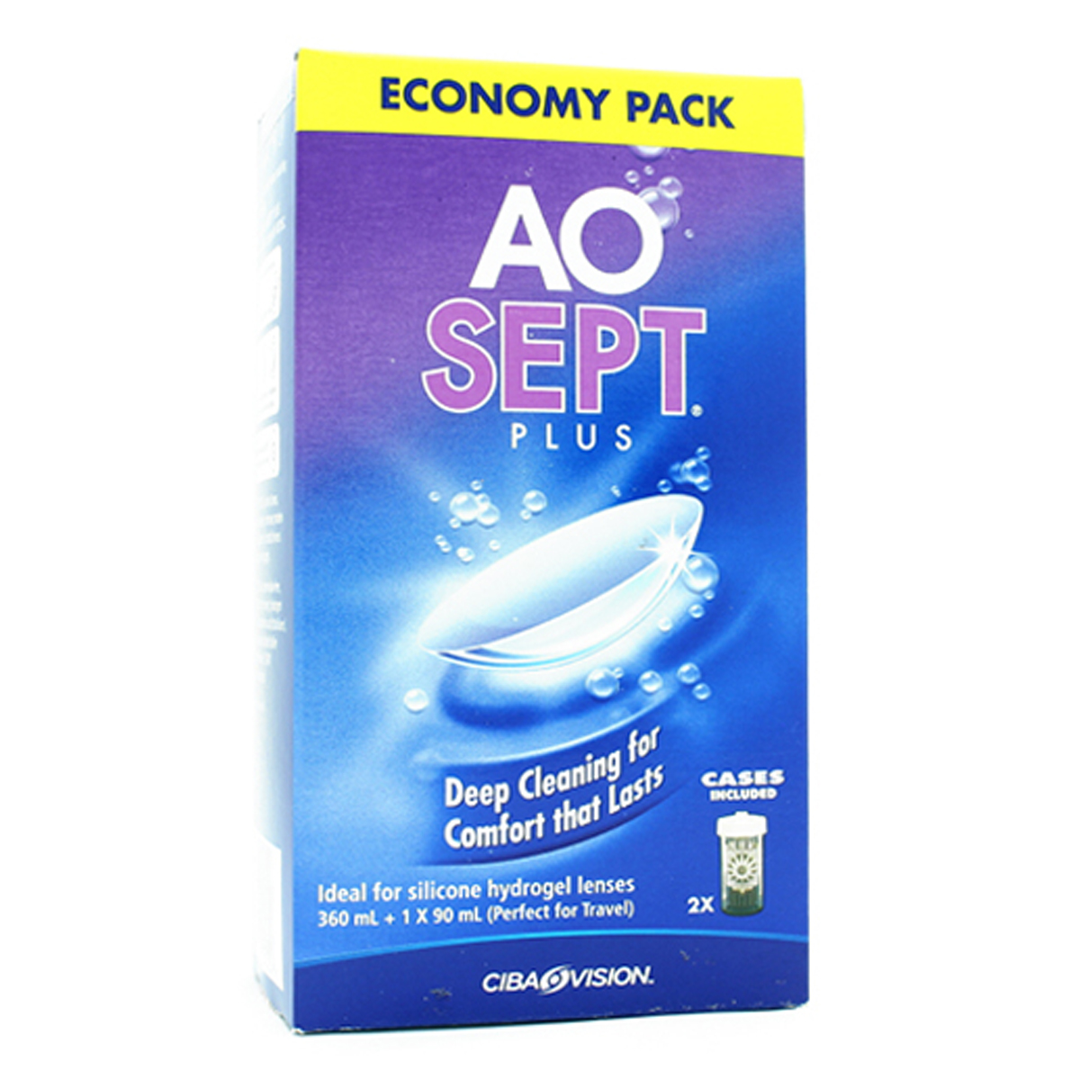 Image for Aosept Plus Disinfecting Solution Economy Pack - 450ml from Amcal
