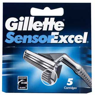 Image for Gillette Sensor Excel Razor Cartridges - 5 Pack from Amcal