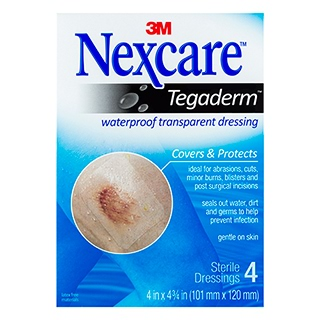 Image for Nexcare Tegaderm Waterproof Transparent Dressing Large - 4 Pack from Amcal
