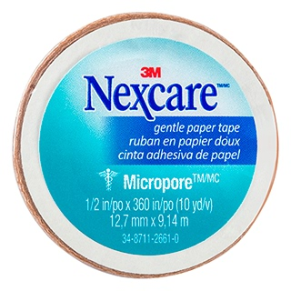Image for Nexcare Micropore First Aid Paper Tape Tan - 12.7 mm x 9.14m from Amcal