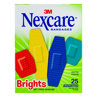Image for Nexcare Comfort Bright Strips Asssorted - 25 Pack from Amcal