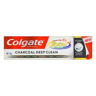 Image for Colgate Total Charcoal Deep Clean Toothpaste - 110g from Amcal