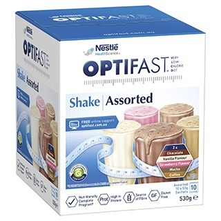 Image for Optifast VLCD Assorted Flavour Shakes - 10 x 53g Sachets from Amcal