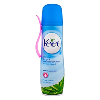 Image for Veet Spray On Hair Removal Cream Sensitive - 150ml from Amcal
