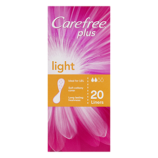 Image for Carefree Plus Liners Light - 20 Pack from Amcal