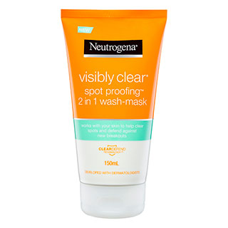 Image for Neutrogena Visibly Clear Spot Proofing 2 in 1 Wash-Mask - 150mL from Amcal