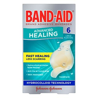 Image for Band-Aid Advanced Healing Strip Large - 6 Pack from Amcal