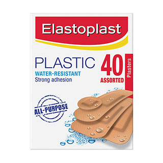 Image for Elastoplast Plastic Strip Assorted - 40 Pack from Amcal