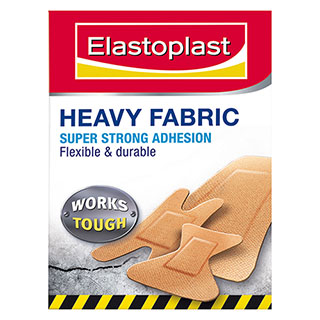 Image for Elastoplast Heavy Duty Fabric Strips Assorted - 15 Pack from Amcal