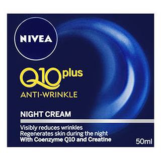 Image for Nivea Q10 plus Anti-Wrinkle Night Cream - 50mL from Amcal