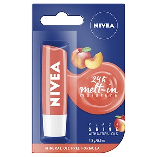 Image for Nivea Lip Care Fruity Shine Peach - 4.8 g from Amcal