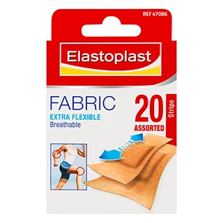 Image for Elastoplast Fabric Assorted Strips - 20 Pack from Amcal
