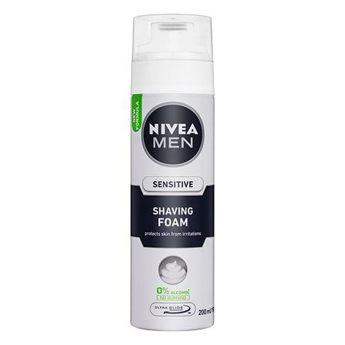 Image for Nivea Men Sensitive Shave Foam - 200mL from Amcal