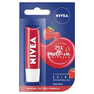 Image for Nivea Lip Care Fruity Shine Strawberry - 4.8g from Amcal