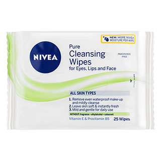 Image for Nivea Daily Essentials Fragrance Free Facial Wipes - 25 Pack from Amcal
