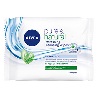 Image for Nivea Visage Natural Face Cleansing Wipes - 25 Pack from Amcal