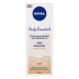Image for Nivea Daily Essentials Tinted Moisturising Day Cream SPF15 Light - 50mL from Amcal