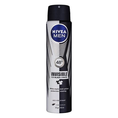 Image for Nivea Men Invisible Black & White Anti-Perspirant - 250mL from Amcal