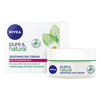 Image for Nivea Pure & Natural Soothing Day Cream - 50mL from Amcal
