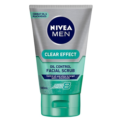 Image for Nivea Men Clear Effect Oil Control Facial Scrub - 100mL from Amcal