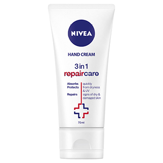 Image for Nivea 3 in 1 Repair Care Hand Cream - 70ml from Amcal