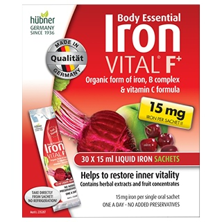 Image for Body Essential Iron Vital F Liquid Sachets - 30 x 15ml from Amcal