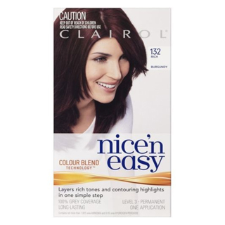 Image for Clairol Nice 'N Easy 132 Rich Burgundy from Amcal