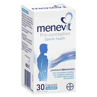 Image for Menevit Pre-Conception Sperm Health - 30 Capsules from Amcal