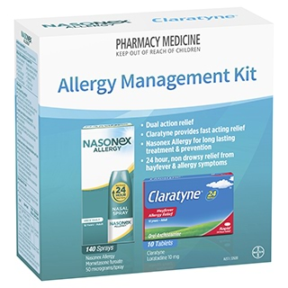 Image for Nasonex Plus Claratyne Allergy Management Kit from Amcal