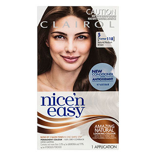 Image for Clairol Nice'n Easy - 118 Medium Brown from Amcal
