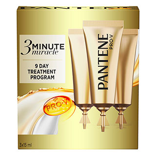 Image for Pantene 3 Minute Miracle Treatment 15mL - 3 Pack from Amcal