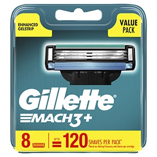 Image for Gillette Mach3 Plus Replacement Cartridges - 8 Pack from Amcal