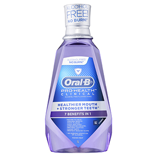 Image for Oral-B Pro-Health Clinical Rinse Clean Mint - 1L from Amcal