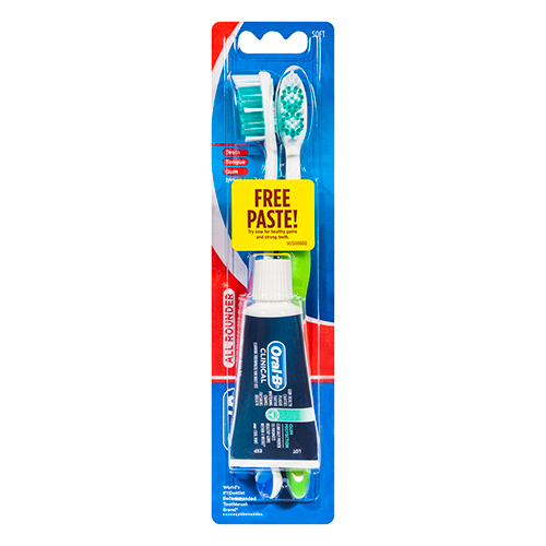 Image for Oral-B All Rounder Fresh Clean Toothbrush Soft Plus 22g Toothpaste - 2 Pack from Amcal