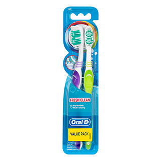 Image for Oral-B Fresh Clean Soft - 2 Pack from Amcal