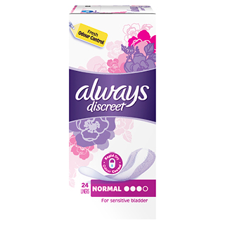 Image for Always Discreet Normal Liners - 24 Pack from Amcal