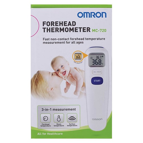 Image for Omron MC720 Forehead Thermometer from Amcal