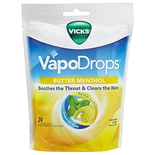 Image for Vicks VapoDrops Butter Menthol - 24 Lozenges from Amcal