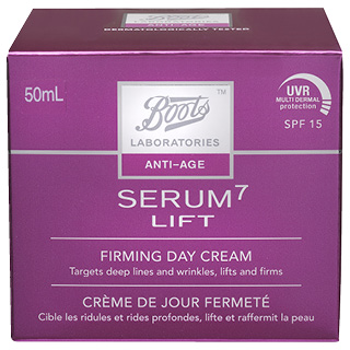 Image for Boots Laboratories Serum 7 Lift Firming Day Cream SPF15 - 50mL from Amcal