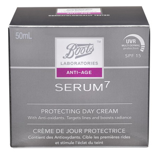 Image for Boots Laboratories Serum 7 Protecting Day Cream SPF15 - 50mL from Amcal