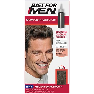 Image for Just For Men Shampoo-In Hair Colour 40 Medium - Dark Brown from Amcal