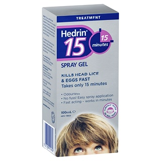 Image for Hedrin 15 Minute Spray Gel - 100mL from Amcal
