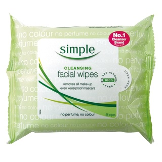 Image for Simple Cleansing Facial Wipes - 25 Pack from Amcal