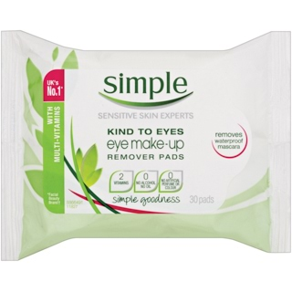 Image for Simple Kind to Skin Eye Make Up Remover Pads - 30 Pack from Amcal