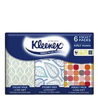 Image for Kleenex To Go Ultra Soft Handy Individual Packs - 6 Pack from Amcal