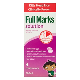 Image for Full Marks Head Lice Solution - 200mL from Amcal