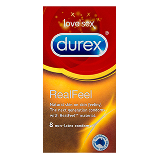 Image for Durex Real Feel 8 Non-Latex Condoms from Amcal