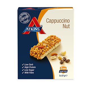 Image for Atkins Daybreak Cappuchino Bar - 5 Pack from Amcal