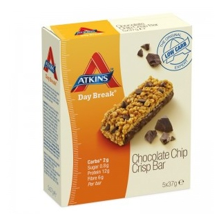 Image for Atkins Day Break Choc Chip Bar - 5 Pack from Amcal